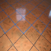 <p>Adding the grout</p>