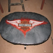 <p>Concrete table with Aurora epoxy overlay</p>